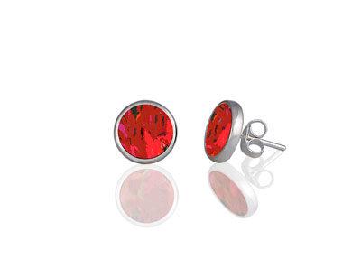 Meadow Red Stud Earrings