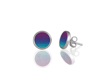 Ocean Purple Stud Earrings