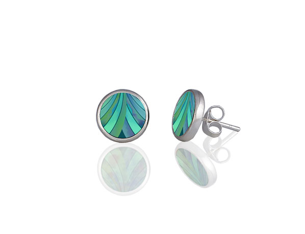 Ribbon Turquoise Stud Earrings