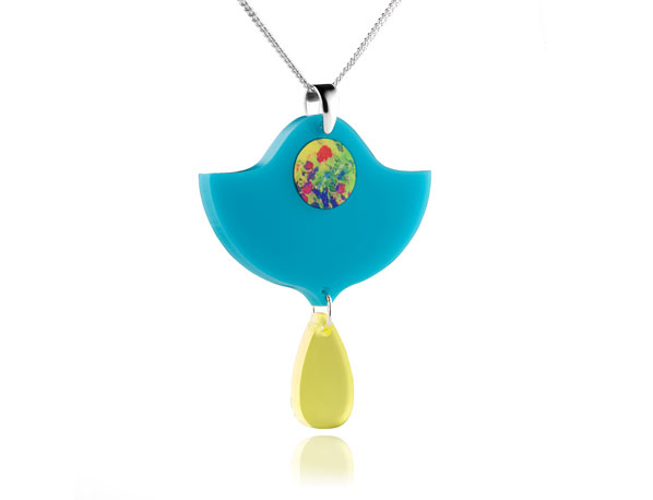 Duo Lily Turquoise Acrylic Pendant