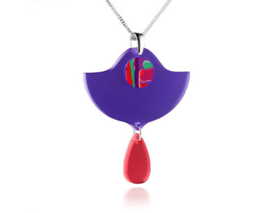 Duo Lily Purple Acrylic Pendant
