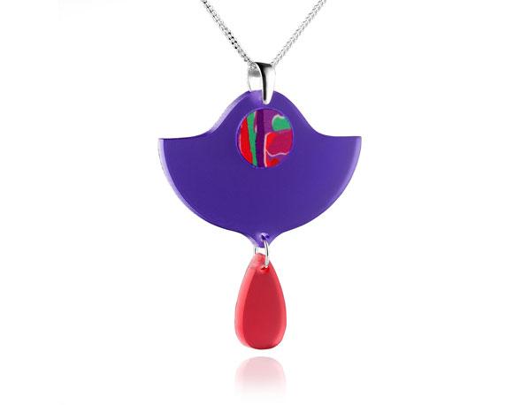Duo Lily Purple Acrylic Pendant