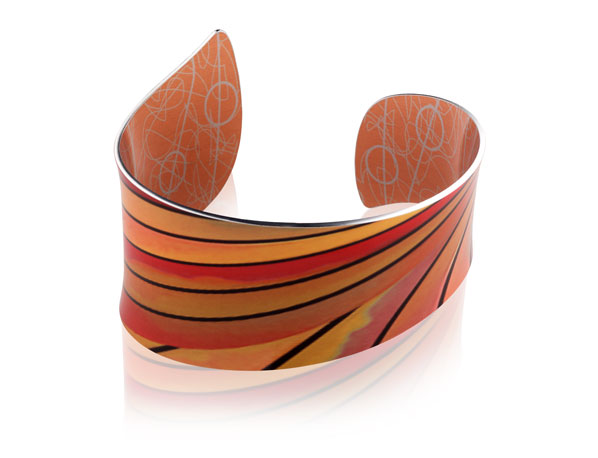 Ribbon Orange bangle
