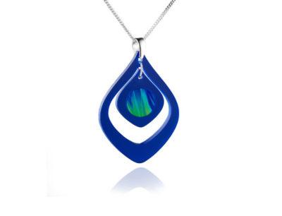 Duo Tulip Blue Acrylic pendant