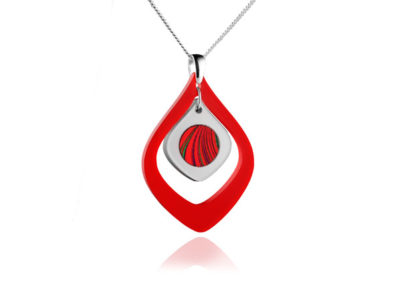 Duo Red Acrylic pendant