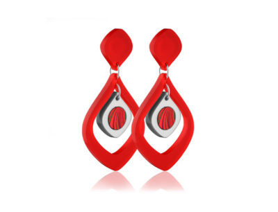 Duo Tulip Red Acrylic earrings