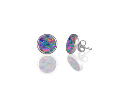 Confetti blue stud earrings