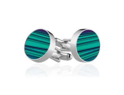 Green Stripe Cufflinks