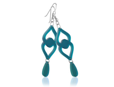 Duo Heart Turquoise Acrylic earrings