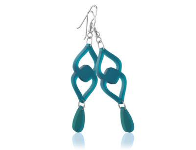 Duo Heart Turquoise Acrylic earrings