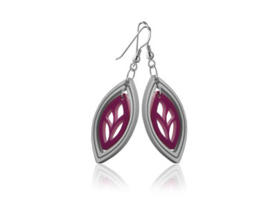 Duo Leaf Pink Acrylic earrings
