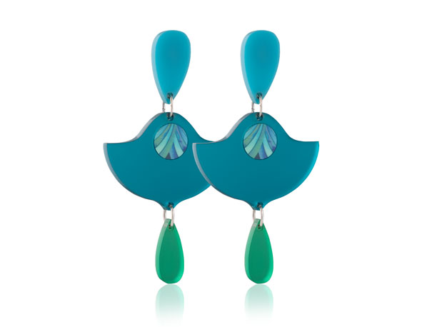 Duo Acrylic Lily Blue Frost earrings