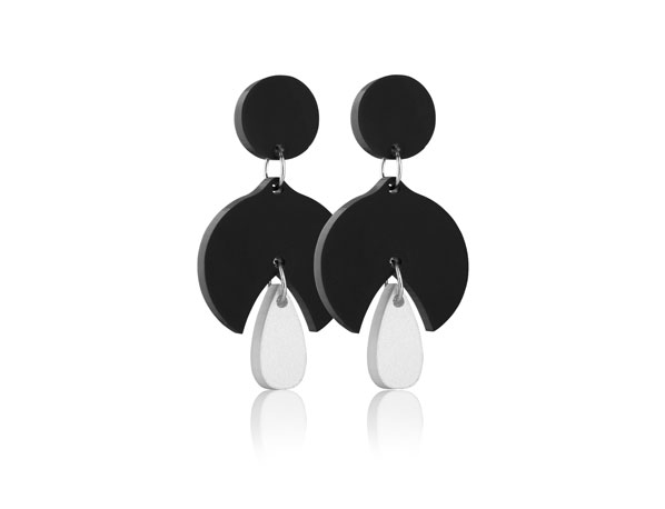 Duo Snowdrop acrylic earrings