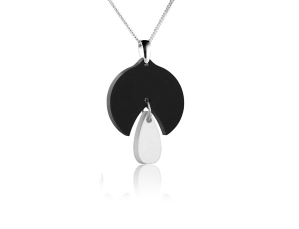 Duo Snowdrop Black/White Pendant