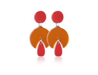 Duo Snowdrop Orange Earrings