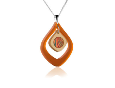 Duo Tulip Orange Acrylic pendant