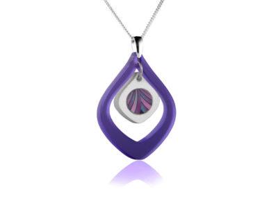 Duo Tulip Purple pendant