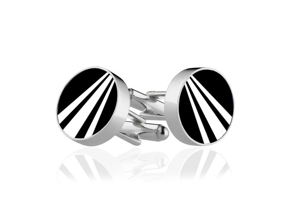 White Stripe Cufflinks