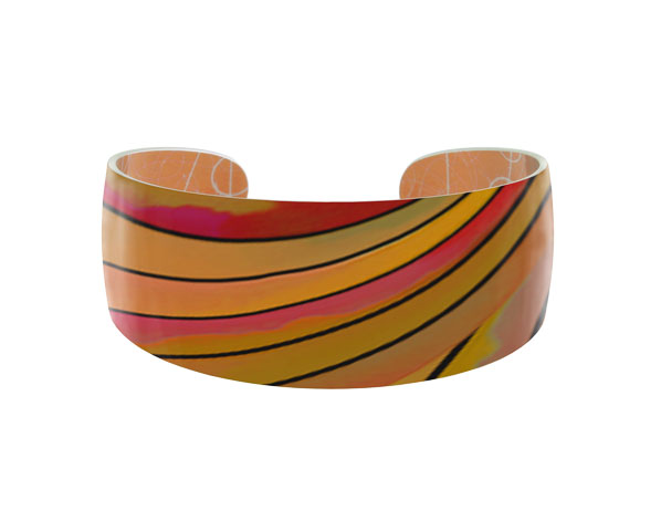 Ribbon Orange Bangle Pixalum