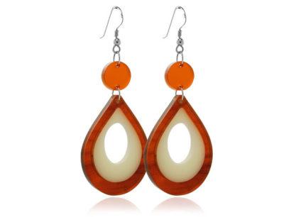 Duo Cosmos-Cream-&-Tortoiseshell-Earrings