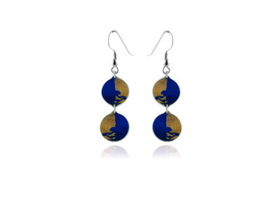 Gold Dust Blue Earrings