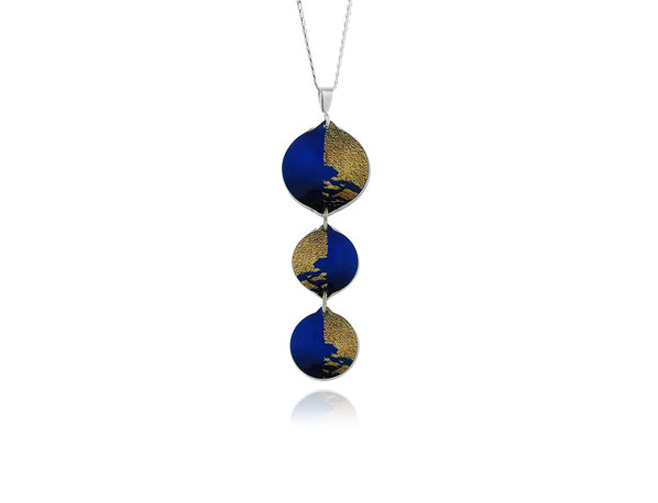 Gold Dust Blue Pendant Pixalum