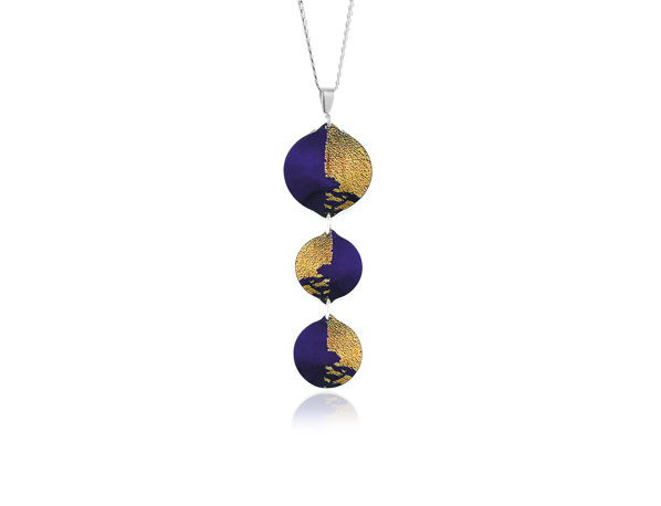 Gold Dust Purple Pendant Pixalum