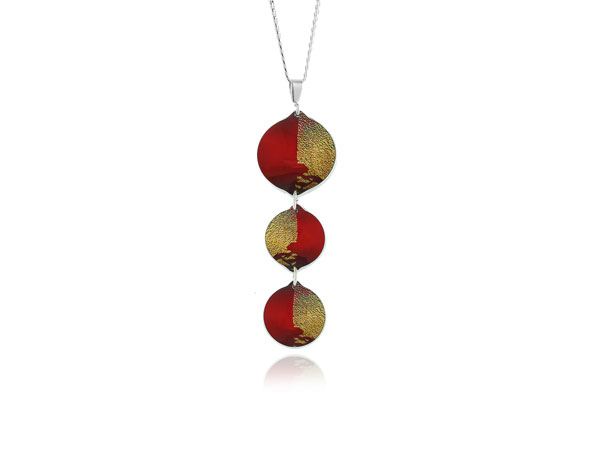 Gold Dust Red Pendant Pixalum