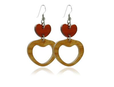 Duo Heart-Tortoiseshell-acrylic Earrings