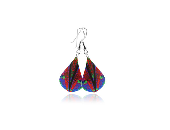 Kaleidoscope-Red-Earrings Pixalum