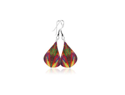 Kaleidoscope Yellow Earrings