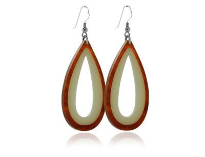 Duo Tortoiseshell & Cream Acrylic Earrings