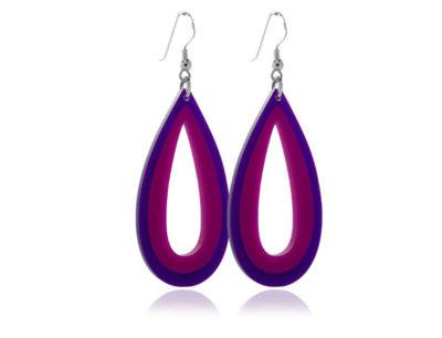 Duo Purple Acrylic earrings