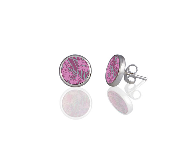 Willow Pink Stud Earrings by Pixalum