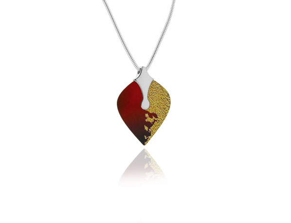 Heart Red Sterling Silver Pendant