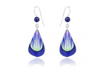 Pixalum Rumba Blue aluminium earrings