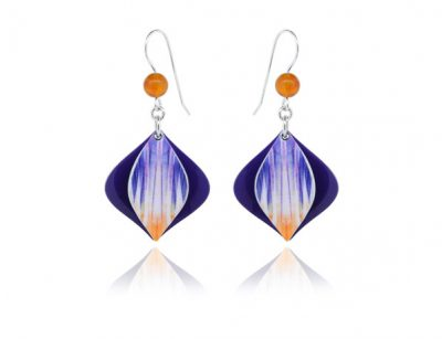 Swing Purple aluminium earrings