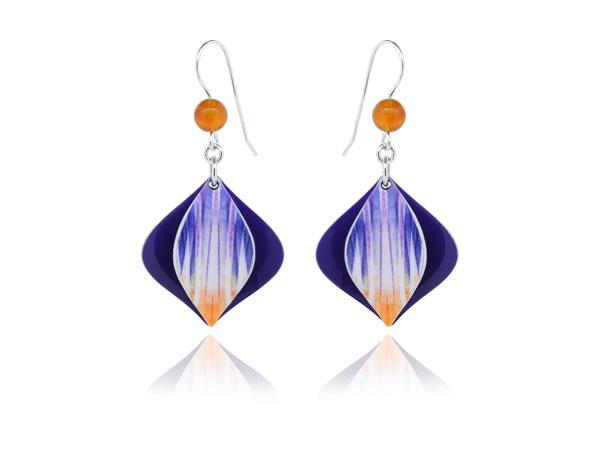 Swing Purple aluminium earrings