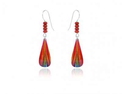 Bolero Red aluminium earrings