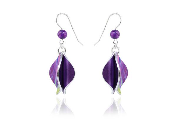 Salsa Purple aluminium earrings