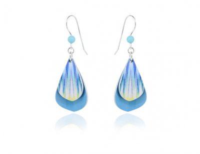Rumba aluminium Turquoise Earrings