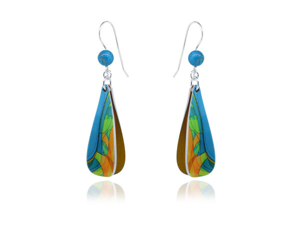 Pixalum Cha-Cha Turquoise earrings