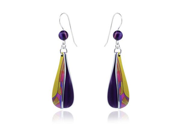 Pixalum Cha-Cha Purple earrings