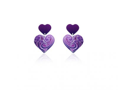 Amour Purple aluminium earrings