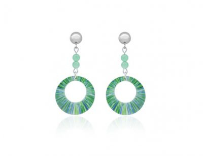 Anenome-Green-Earrings
