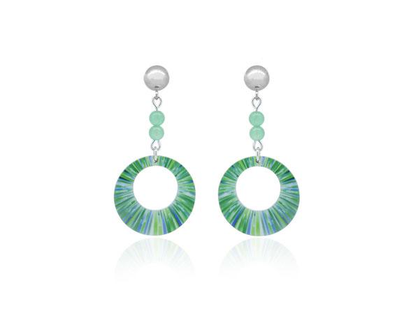 Anenome-Green-Earrings