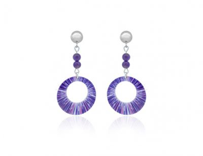 Anenome-Purple-Earrings