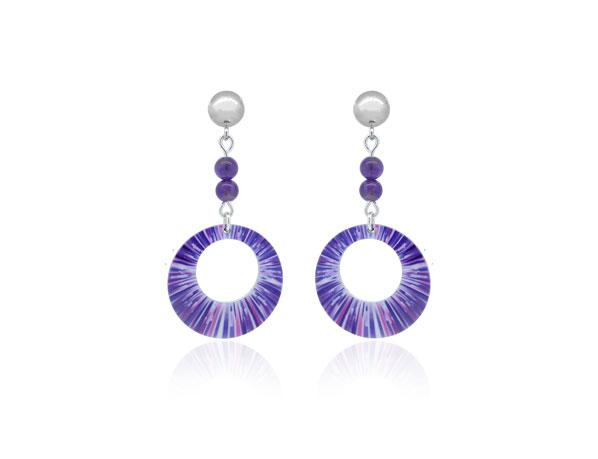 Anenome-Purple-Earrings