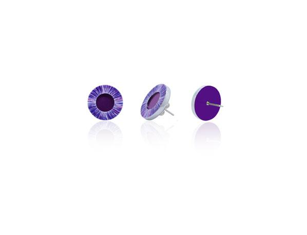 Anenome-Purple-Stud-Earrings